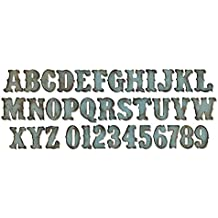 Sizzix, Fustella Lettere alfabeto e numeri, XL, Vintage market by Tim Holtz