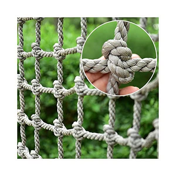 "10cm(3.94in)*12mm(15/32in),safety Net Stair Railing Balcony Fence Decoration Child Adult Swing Rope Ladder Toy Climbing Tree Protection Netting Load Fixed,Cargo Rope Truck Deck Heavy Goods Nylon Nets XXN ❤Auxiliary image display uses only scene reference,the main picture color is main.The safety net has a diameter of 12mm(15/32"") and a mesh size of 10cm(3.94""). The mesh edge is strengthened, the mesh is even, the pulling force is strong, the sunscreen, the weatherproof, the firm and the wearable. ❤The rope net is mainly used for climbing, not only for ordinary children and adults, but also for balconies, stairs, pets, children, gymnasiums, playgrounds, gardens, schools or sports clubs, and isolating truck cargo. It prevents objects from falling and ensures the safety of pets, children, etc. ❤Safety Tip: Regularly check the safety net for safety hazards caused by various external or human factors to protect safety. 1"