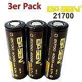 BASEN 21700Batterie 4000mAh haute puissance 30A 3,7V Batterie Flat Top. très haute capacité. 3 Stück