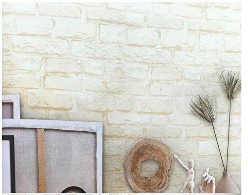 épaissir 3D À trois dimensions bosse rétro gris fond d'écran de briques PVC hôtels gris motif de briques papier peint , cream color