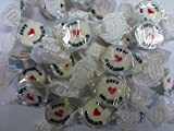 Just Married Silver Rock Sweets Pack 50 - great alternative Wedding Favours