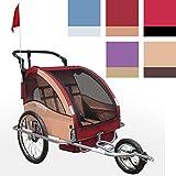 Infantastic 2 in 1 Jogger Fahrradanhänger Anhänger Radanhänger voll gefedert und gemütlich in 5 verschiedenen Farben