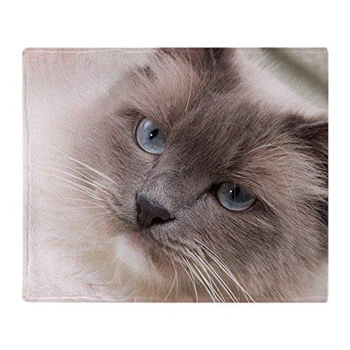 CafePress–Katzen Serie–Ragdoll–weicher Fleece Überwurf Decke, 127x 152,4cm Stadion Decke, weiß, 50x60