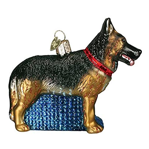 Old World Christmas German Shepherd Glass Blown Ornament by Old World Christmas
