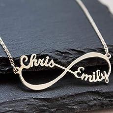 Infinity - Unendlich Namenskette Sterling Silber, Personalisiert Unendlich. e6d8dd4d5a