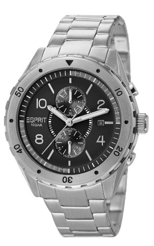 esprit-mens-alamo-quartz-watch-with-black-dial-analogue-display-and-silver-stainless-steel-bracelet