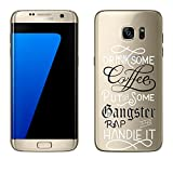 "Samsung Galaxy S7 Edge Cover by licaso® from TPU protects your S7 Edge 5.5"" Coffee Gangster Rap Drink Music Protective Cover transparent clear protective case bag Silicone Style (Samsung Galaxy S7 Edge, Coffee Gangster Rap)"