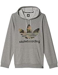 adidas Skateboarding para Hombre Clima 3.0 Sudadera con Capucha de Camuflaje - AY8918, Núcleo Brezo