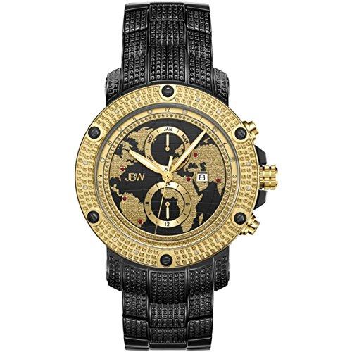 Jbw lusso uomo Veyron diamante 0.18ct orologio da polso con bracciale a maglie in acciaio INOX