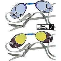 4bc70fe49f5 SwimExpert BECO Swedish Goggles Multi Buy BLUE and Gold Mirror Lenses