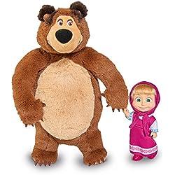 Simba 109301002–mascha y el oso Juego Oso de peluche + Muñeca, pequeño