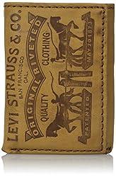 Levis Mens Levis Trifold Wallet, Cognac, One Size