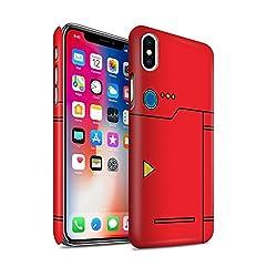 Stuff4® Matte Snap-On Hülle/Case für Apple iPhone X/10/Rot Muster/Anime Cartoon Kodex Kollektion