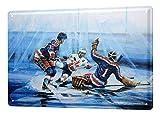 LEotiE SINCE 2004 H. L. Koehler Blechschild Nostalgie Wandschild Eishockey Kanada USA 20X30 cm