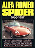 Alfa Romeo Spider, 1966-87 (Brooklands Books Road Tests Series)