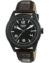 Esprit Herren-Armbanduhr XL Chester Analog Quarz Leder ES106311003