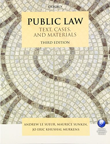 Public Law Text, Cases, and Materials 3/e