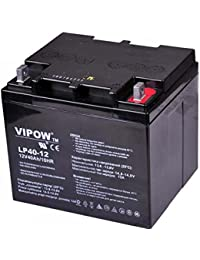 Vipow - Batería de Movilidad 12V 40Ah Para silla de ruedas eléctrica. Bateria de ciclo profundo de gel. Pila recargable. Acumulador