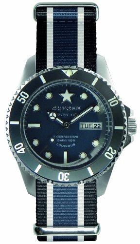 Oxygen EX-DV-JEA-41-BLIVJE - Reloj analógico de cuarzo unisex, correa de nailon multicolor (agujas luminiscentes)