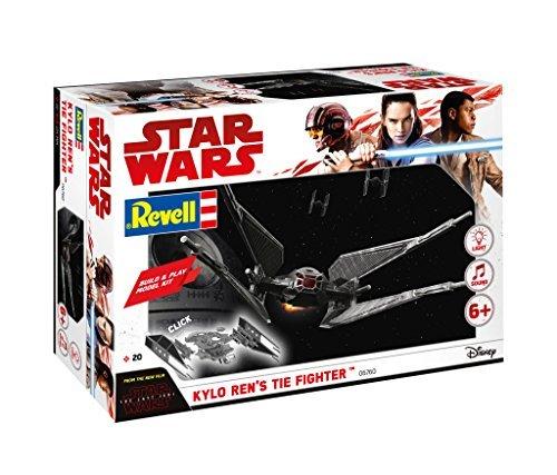 Revell Build & Play Star Wars Kylo Ren's TIE Fighter - 06760, Maßstab 1:70, originalgetreue Nachbildung mit beweglichen Teilen, mit Light&Sound Effekten, robust zum Spielen (Monopoly Electronic)