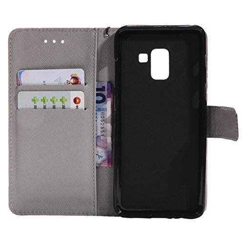 Samsung 2018 Frame For PU 5 Credit A5 2018 Keychain A5 Case 2018 with Stand Cover Galaxy A8 A8 Samsung Card 2018 Protective Flip Phone Coque 73 Case Wallet photo Galaxy Slots 45nHpwpAxq