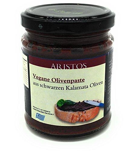 ARISTOS Tapenade aus Kalamata Oliven | vegan & vegetarisch | Olivenpaste | Olivencreme | veganer Brotaufstrich | (3x 190g)