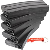 E&C 30 Round M4 Series AEG Magazine 5 pcs Box Set (Black) by AirsoftGoGo