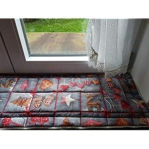 Fensterbank Kissen XMAS Patchworkdesign ca. 120 x 25-30 cm