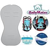 Baby Matex–Asiento para asiento/paddi–de Air Flow–de Universal para portabebés, asiento de coche, por ejemplo para maxi-cosi, Römer, para carrito, Buggy, Trona etc. gris