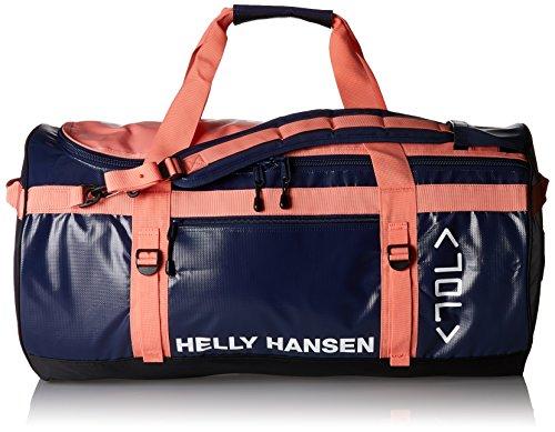 Helly Hansen Classic Duffel Bolsa de deporte, 90 cm, 70 litros, Azul/Rosa