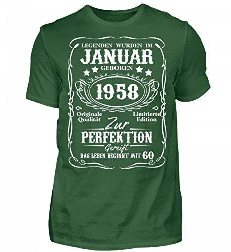 Hochwertiges Herren Shirt - Legenden - Januar 1958-60. Geburtstag (L/s Legende Shirt)
