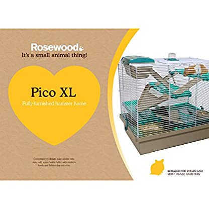 Rosewood PICO Hamster Home, Extra Large, Translucent Teal 2