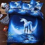 KEYUANnume Galaxy Bettwäschesatz Universum-Weltraum-Themen-Bett-Set Bettbezug Print Bettwäsche-Bettwäsche Twin Single Queen 3 Twin 2 pcs