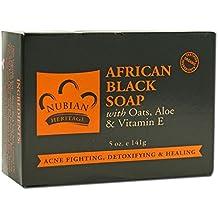 2 X Nubian Heritage, African Black Soap Bar, 5 oz (141 g)