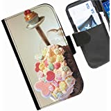 Hairyworm- Kuchen Seiten Leder-Schützhülle für das Handy Microsoft Lumia 640 LTE, Nokia Lumia 640 LTE