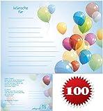galleryy.net 100 Ballonflugkarten zur Hochzeit GELOCHT, PORTOFREI möglich, Flugkarten für Hochzeitsballons im Set zum Hochzeitsspiel im Ballonflugkartenset - Hochzeit bunte Luftballons