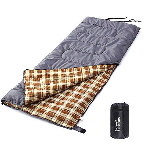 Camp Solutions El Saco de Dormir ultra ligero y protátil en Tres Estación Viajar Acampar Hacer Excursion y Dormir la siesta Bolsillo interno Gris