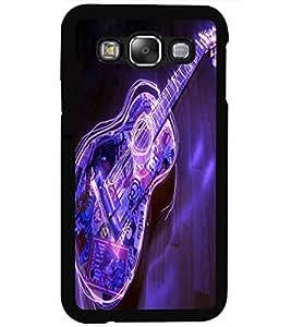 ColourCraft Guitar Design Back Case Cover for SAMSUNG GALAXY E5