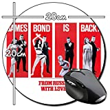 James Bond 007 Desde Rusia Con Amor From Russia With Love Sean Connery Tapis De Souris Ronde Round Mousepad PC