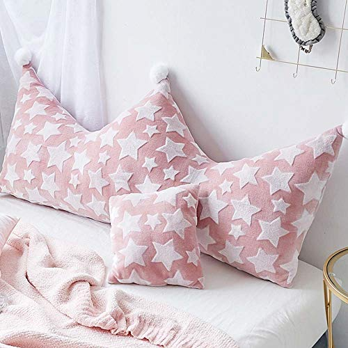 Crown Doppelschlafzimmer Kissen, Übergroße Bett Kopfbedeckung Staubschutz Sofa Cover Cover Bett Dekoration, Waschbar (Color : Red, Size : 150 * 80cm)