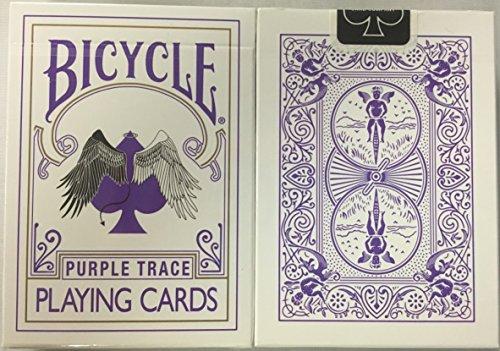 Fahrrad lila Spur Spielkarten Engel, Teufel, Design Bicycle Purple Trace Playing Cards Angel Devil Design