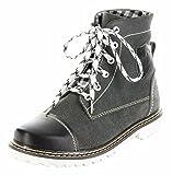 Bergheimer Trachtenschuhe Stiefel schwarz Leder Herren Damen Boots Schuhe Aflenz, Größe:41, Farbe:schwarz