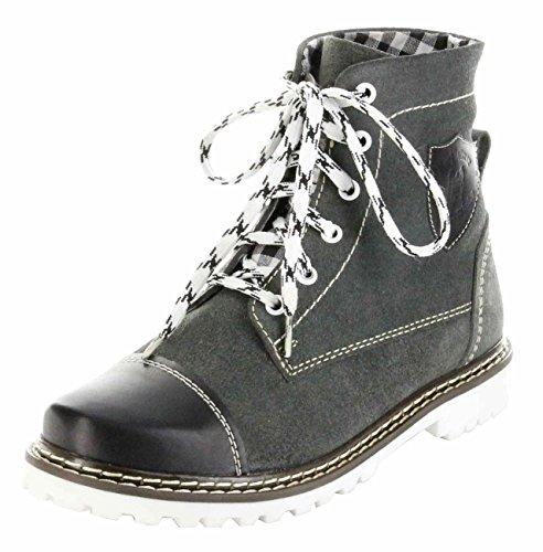 Bergheimer Trachtenschuhe Stiefel schwarz Leder Herren Damen Boots Schuhe Aflenz