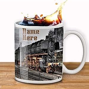 Personnalisé Train à vapeur SS002Mug Thé Tasse à café cadeau de Noël-Ajouter texte-Idéal Cadeau.