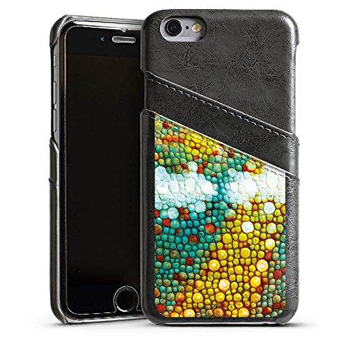 Apple iPhone 6 Housse Étui Silicone Coque Protection Caméléon Motif Motif Étui en cuir gris