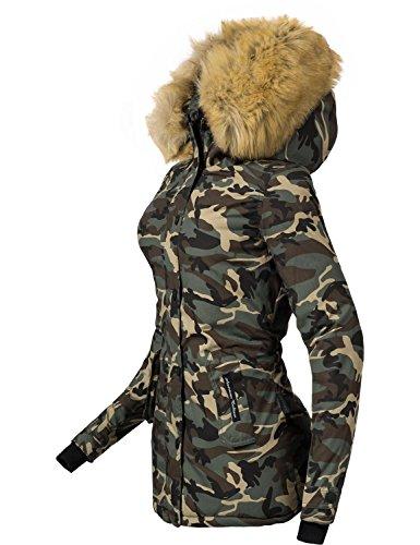 c9d8b33e5a3406 ... Navahoo Damen Jacke Winterjacke Winterparka Laura (vegan hergestellt) 6  Farben + Camouflage XS- ...