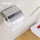 Quick Silver Square Chrome Stainless Steel Bathroom Tissue Paper Holder Box (Silver)