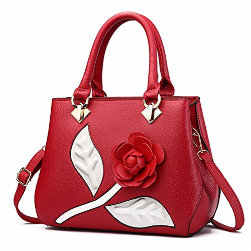 Weibliche Damenmode Damenhandtasche Messenger Bag Rotwein