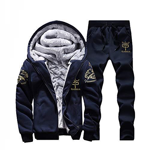 Paolian cappotto,uomo felpa con cappuccio inverno caldo in pile cerniera maglione giacca outwear cappotto top pantaloni set