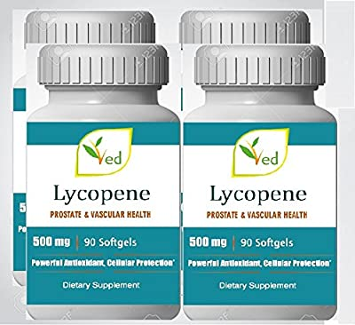 Lycopene 500mg 360 Softgels (1 year supply), Super Strength, Prostate & Heart Health Boost Immune Antioxidant from Ved